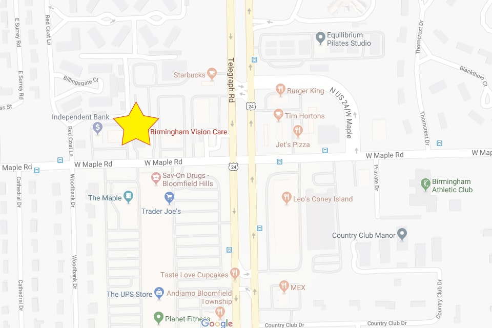 Bloomfield Michigan Map.Birmingham Vision Care Eye Care Exams Vision Therapy Michigan