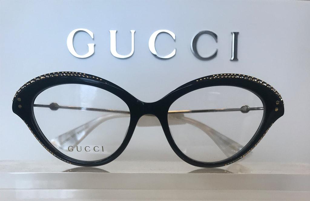 Gucci Frame, rhinestone frame.
